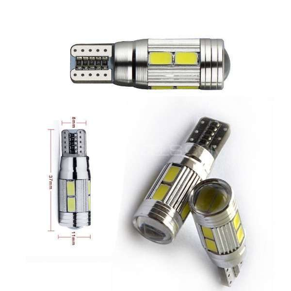 T10 canbus Error free 10 smd parking lights Image-1