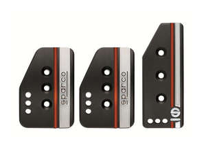 Brake Pedal Covers Sparco Black & Red Line in Lahore