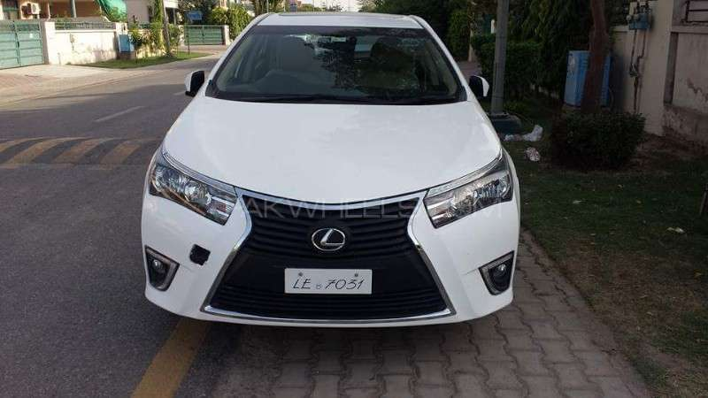 Front Bumper with Grill Corolla 2016 Lexus style Image-1