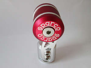 Gear Knob - Sparco Red & Silver in Lahore