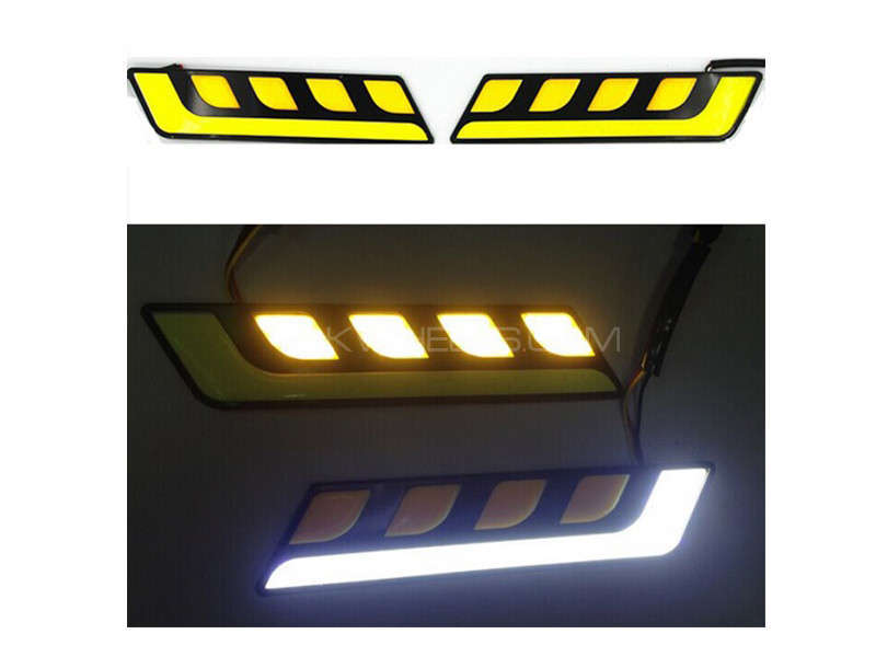 LED DRL With 4 Indicators Image-1