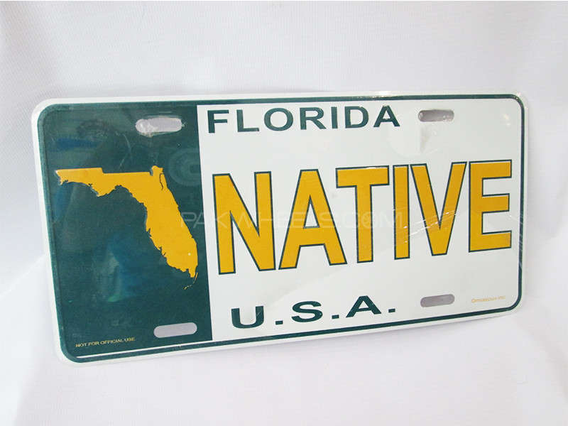 Number Plate - NATIVE  Image-1