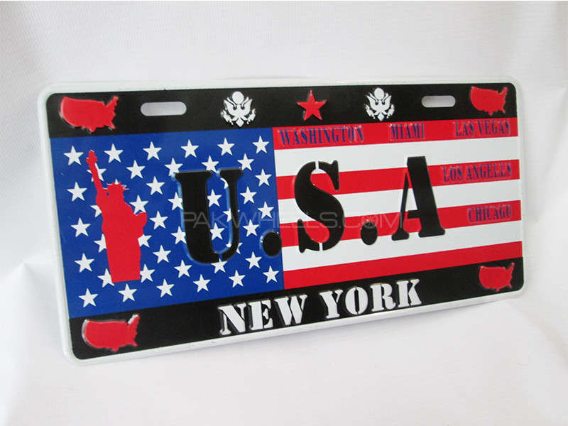 Number Plate - U.S.A  Image-1