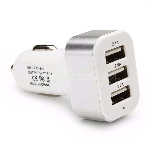 Universal Triple USB Car Charger Adapter Image-1