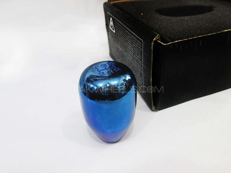 Gear knob Metal Mercury Blue - PA10 Image-1