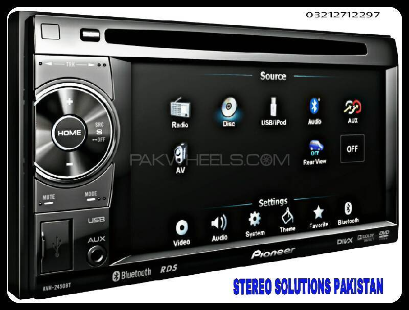 PIONEER AVH-2450BT DVD-USB VIDEO  PLAYER AVAILABLE.  Image-1