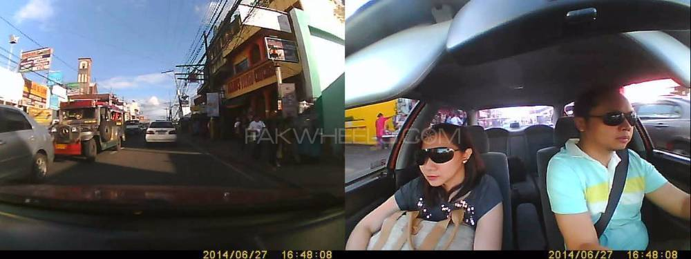 "Car DVR 2.7"" FHD Dash Cam Dual Camera Front + In Cab GPS G-Sensor Image-1"
