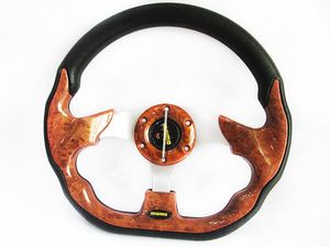 MOMO Steering Wheel Wooden Style in Lahore