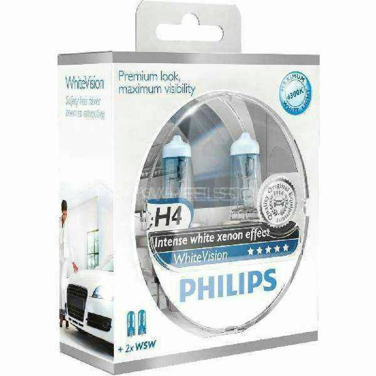 Philips White Vision 4300k H4 Poland with Free parking light