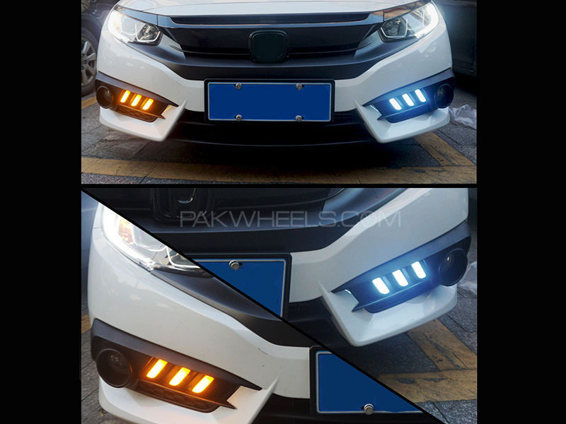Honda Civic 2016 Mustang Style DRL Fog Light Covers in Lahore