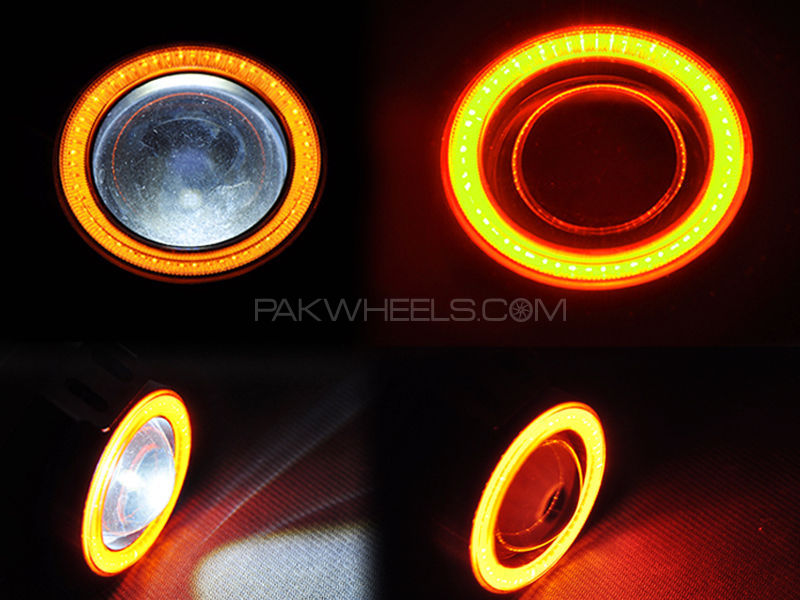 LED Fog Light Angel Eye - Yellow Ring  Image-1