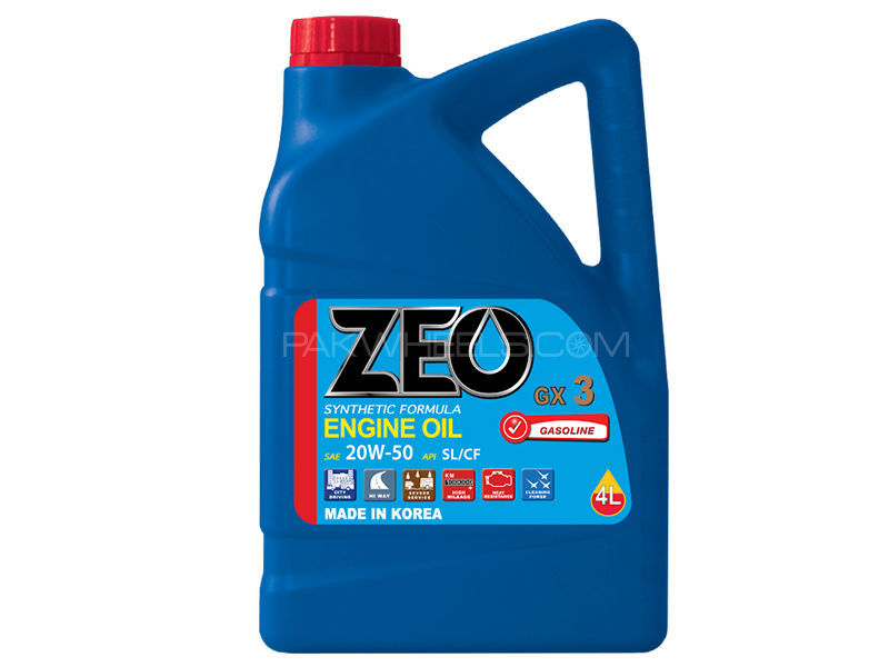 ZEO 4Ltr Synthetic Formula Engine Oil - GX3 20W50 SL/CF in Lahore