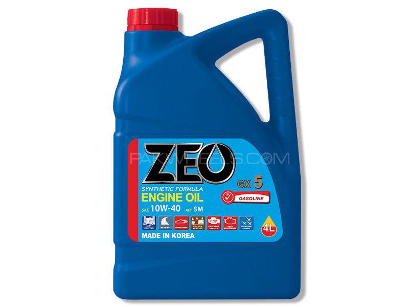 ZEO 4Ltr Synthetic Formula Engine Oil - GX5 10W40 SM in Lahore