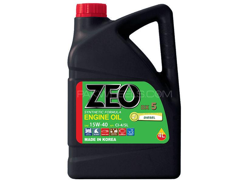 ZEO 4Ltr Synthetic Formula Diesel Engine Oil - DX5 15W40 Cl-4/SL Image-1
