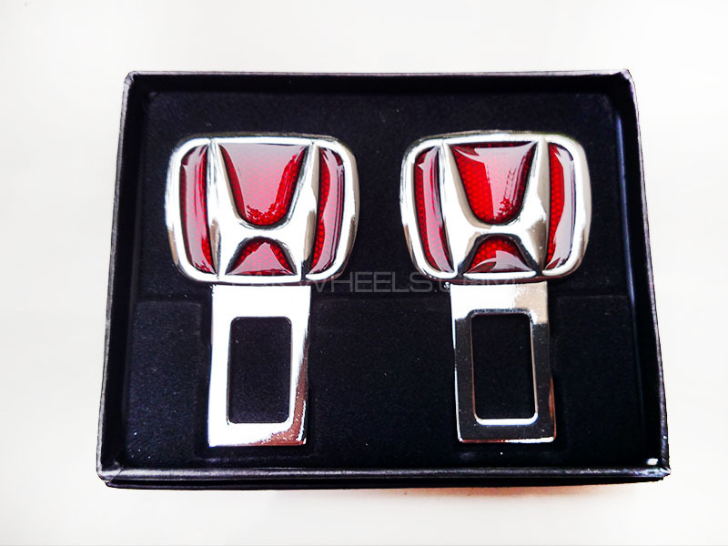 Seat Belt Buckle HONDA Red Image-1