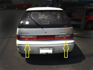 suzuki cultus genuine back light lh+rh (set) -