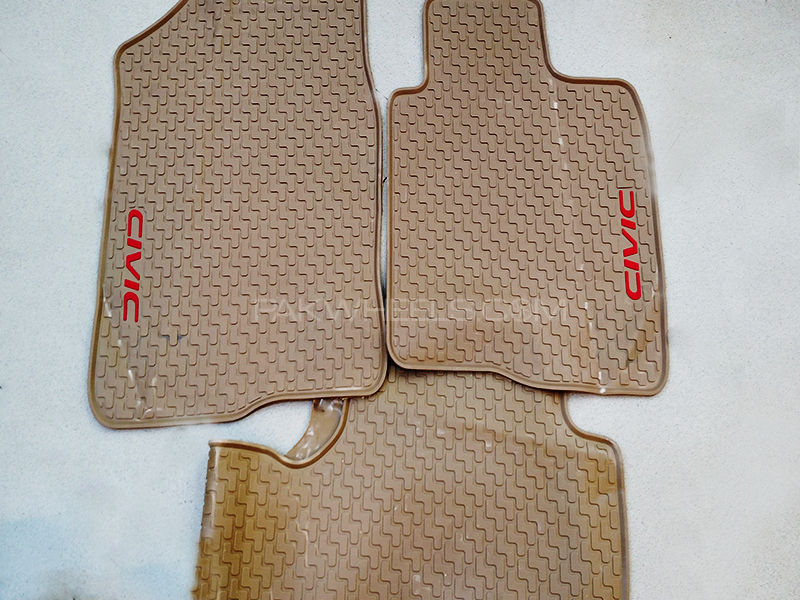 Rubber Floor Mats for Civic 2016-2017- Beige in Lahore