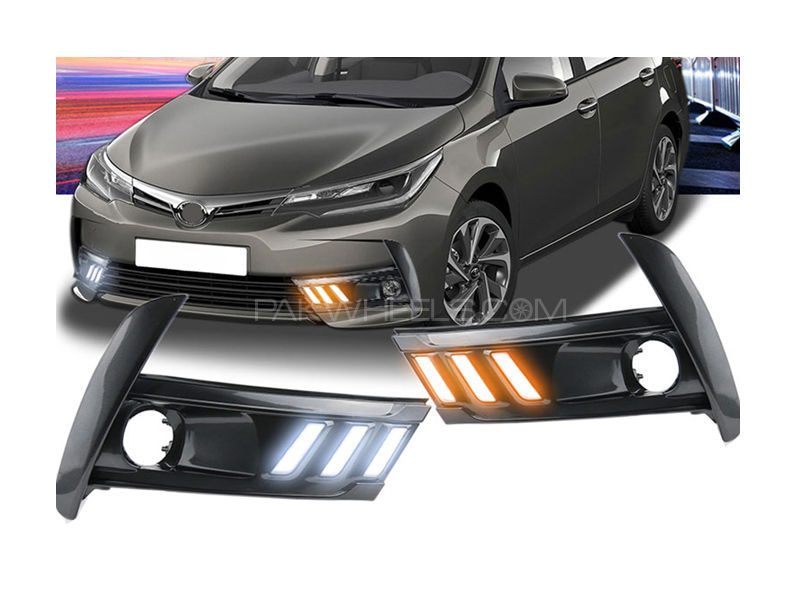 Facelift DRL Fog Lamp Cover For Toyota Corolla 2017-2019 - FA20 Image-1