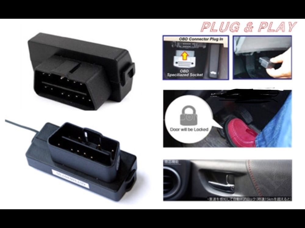 Auto speed door lock Toyota Prius corrolla Vitz Prado land cruiser Canbus OBD 2 auto door lock simple plug & play Image-1
