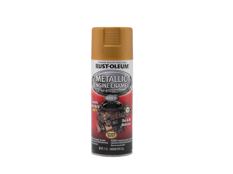 Rust-Oleum Metallic Engine Enamel Golden Image-1