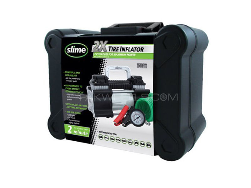 Slime 2x Tire Inflator with LED Light in Lahore