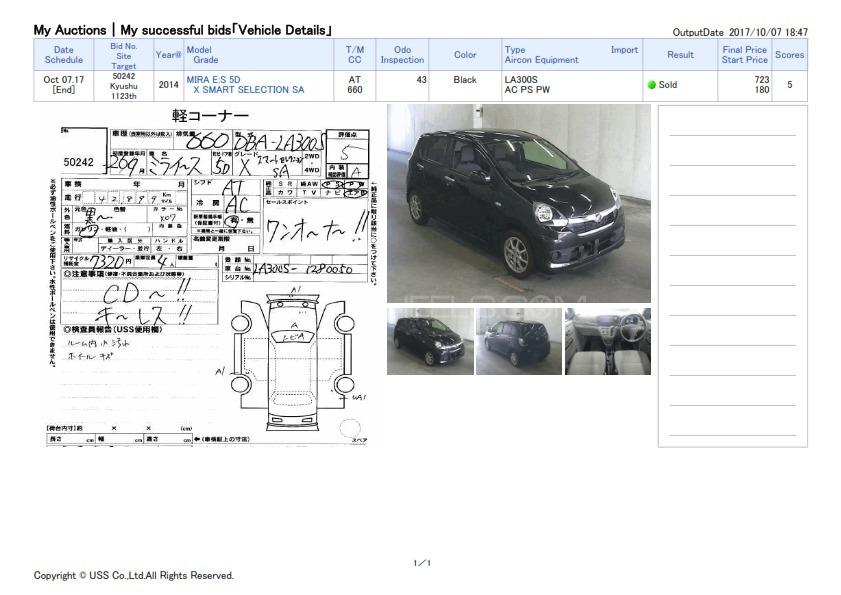 Daihatsu Mira X Limited Smart Drive Package 2014 for sale in Karachi ...