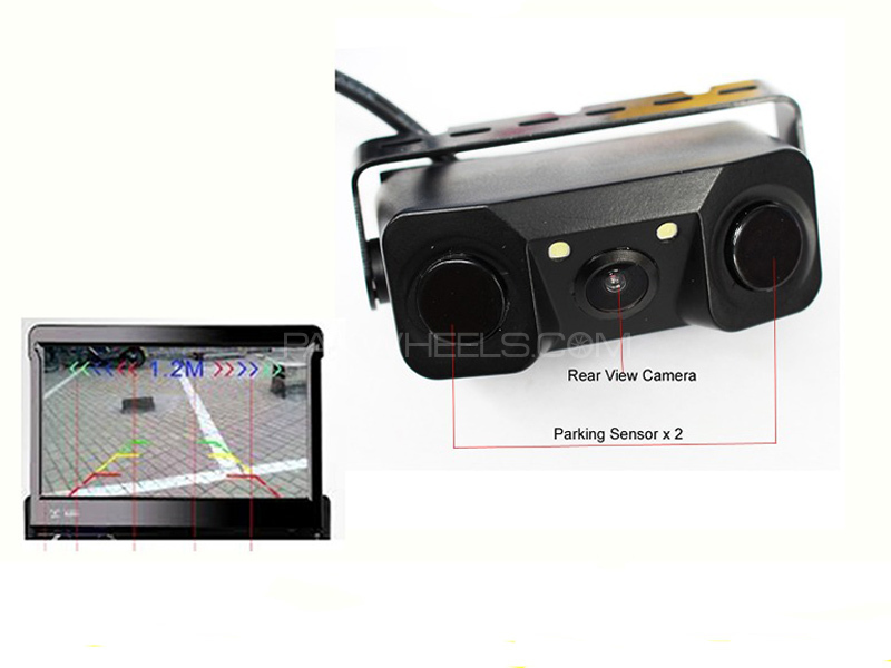 HD Rearview Camera with Parking Sensor Image-1