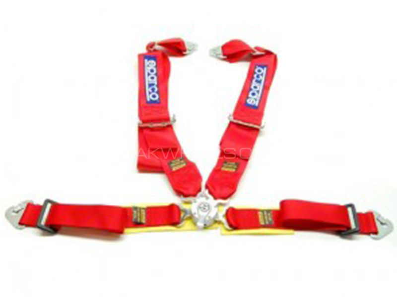 Sparco Harness Seat Belt - Red  in Karachi
