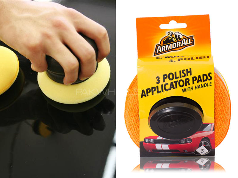 ArmorAll 3 Polish Applicator Pads with Handle in Lahore