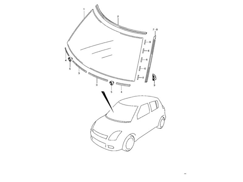 buy suzuki swift windshield molding lh in pakistan pakwheels 1956 Chrysler Norseman Martino's Marty suzuki swift windshield molding lh