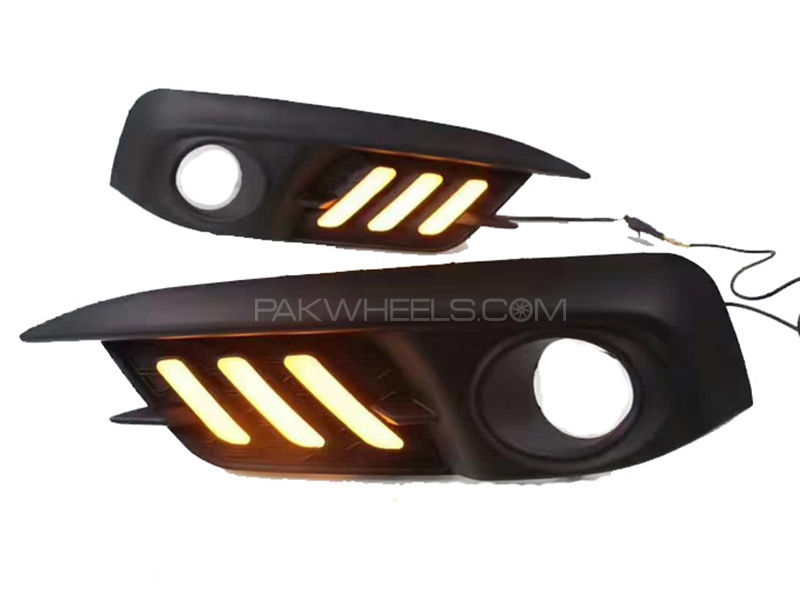 Honda Civic Front Fog Lamp Covers Mustang Style - 2016-2018 in Karachi