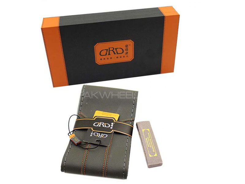ARD Steering Cover Unstich - Black, Orange and Grey Contrast  in Karachi