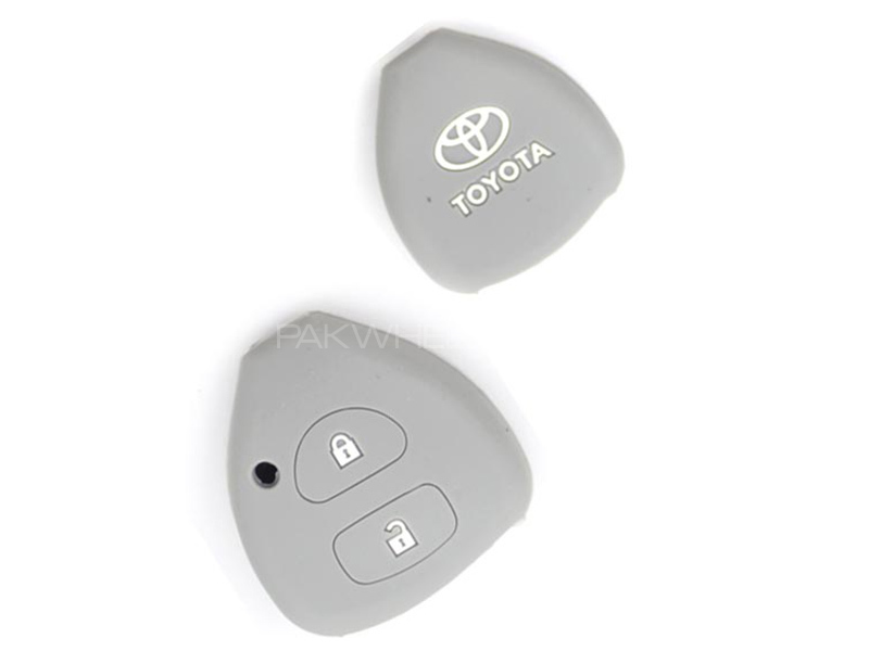 Silicon Key Cover For Toyota Vitz - Grey in Karachi