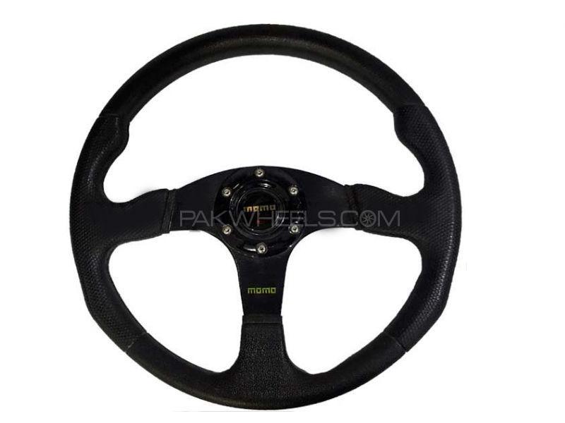 Universal MOMO Steering Black Image-1