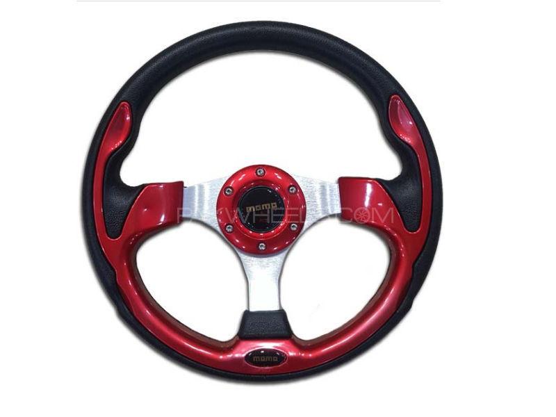 Universal MOMO Steering Red  Image-1