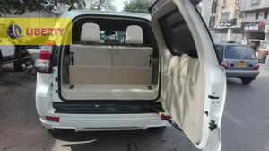 TOYOTA PARDO 2013   NEW SHAPE PEARL WHITE WITH BEIGE TXL LEATHER SUNROOF TV  FULL HOUSE  4,5 GRADE 22000 KM DONE FRESH CLEARED  JUST LIKE BRAND NEW