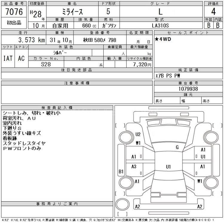 Daihatsu Mira L 2016 Image-1