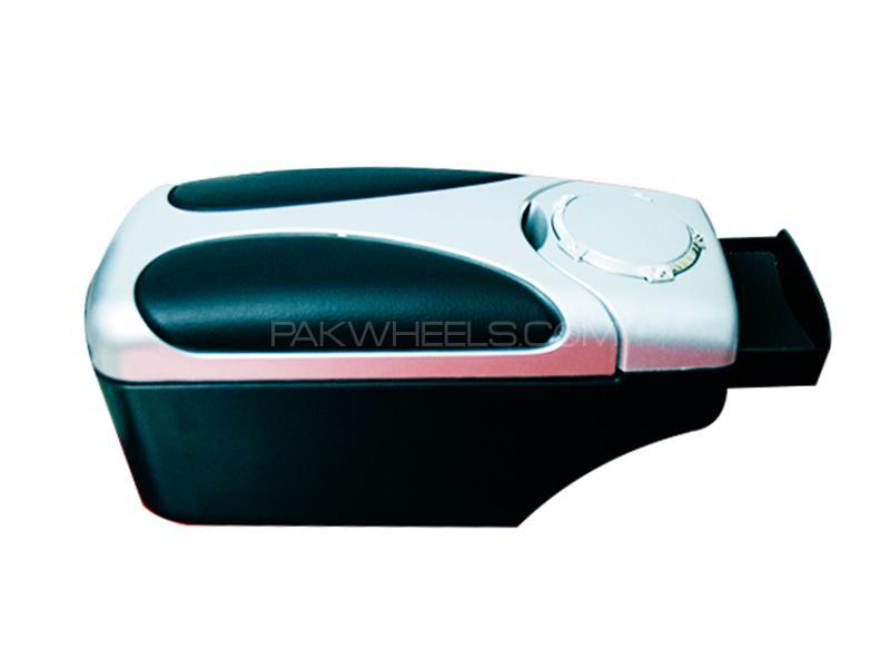 Universal Multi Console Box Armrest Black & Chrome  - 48007 in Karachi