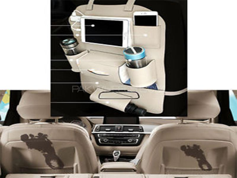 Universal Back Seat Organizer - Beige Image-1