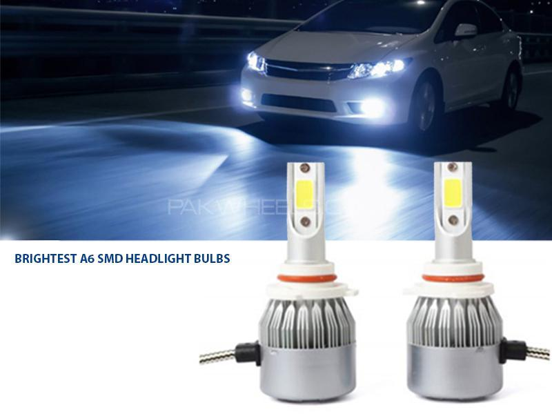 Brightest A6 SMD Headlights Bulb - H11 Image-1