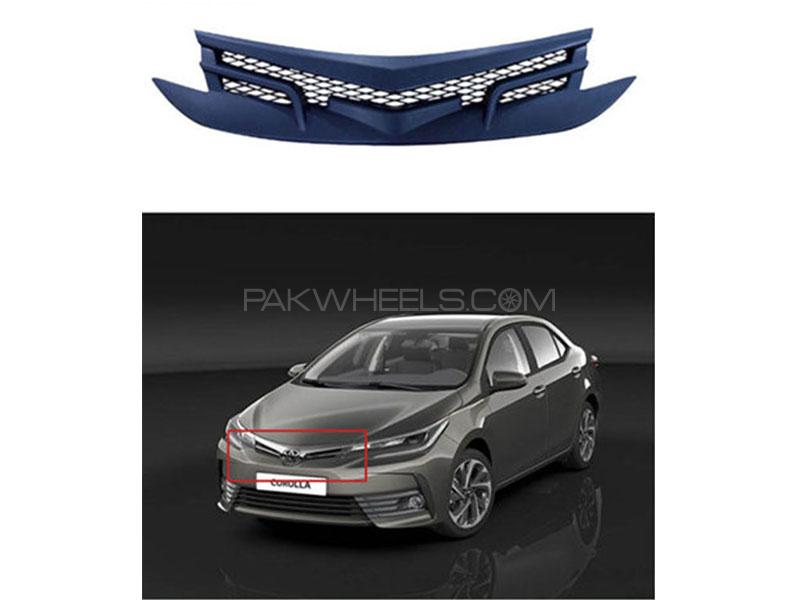 Front Matt Grill For Toyota Corolla 2014-2018  Image-1