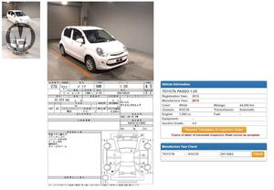 Toyota Passo X 2015 Model  1000 cc  44,000 km  White Colour  4 Grade   Complete Auction Sheet Available,  Just Like A Brand New Car.   ===================================   Merchants Automobile Karachi Branch,  We Offer Cars With 100% Original Auction Report Based Cars With Money Back Guarantee.  Recommended Tips To Buy Japanese Vehicle:   1. Always Check Auction Report.  2. Verify Auction Report From Someone Else.  3. Ask For Japan Yard Pics If Possible.   MAY ALLAH CURSE LIARS..