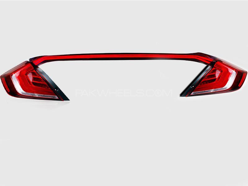 New LED Tail Lights Set For Honda Civic 2016-2018 - 3pcs Image-1