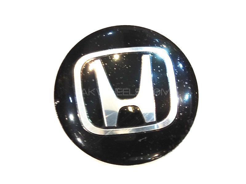 Honda Rim Cap Sticker - Black  Image-1