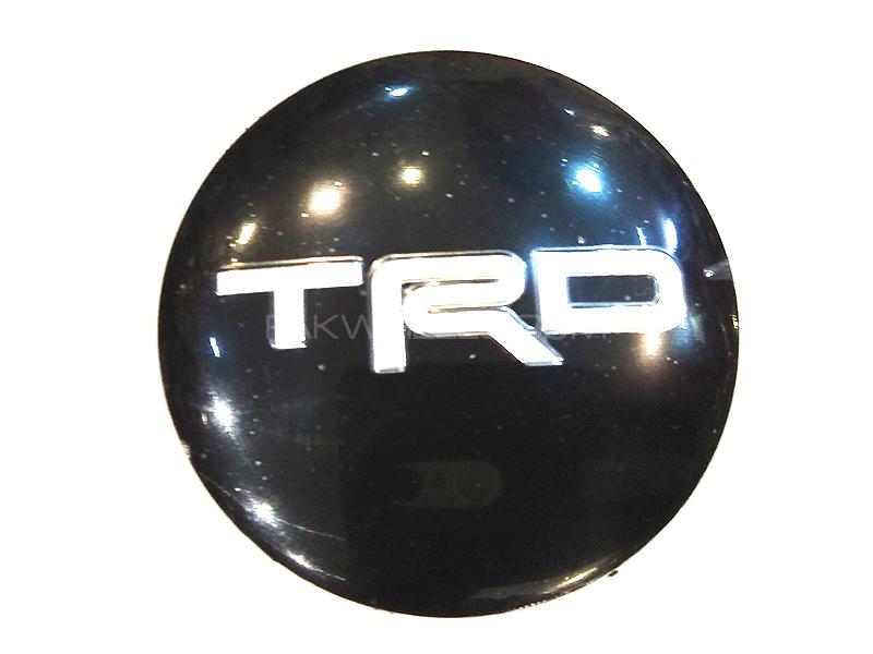 TRD Rim Cap Sticker - Black   Image-1