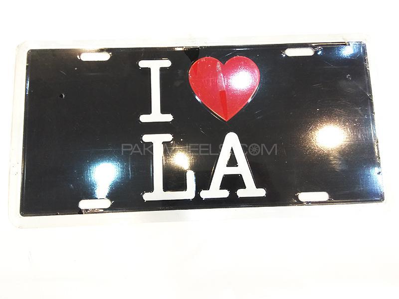 Fancy Embossed License Plate - LA Image-1