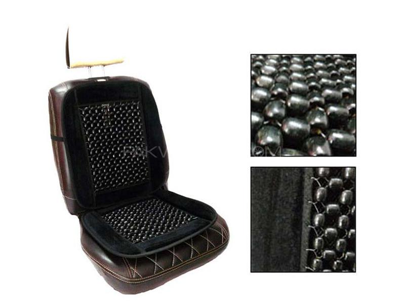 Car Moti Wooden Beads Seat - Black  in Karachi