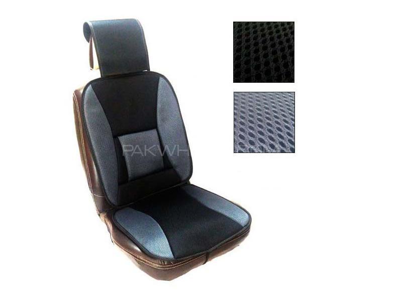 Universal Net Car Seat Cover Grey - Black in Karachi