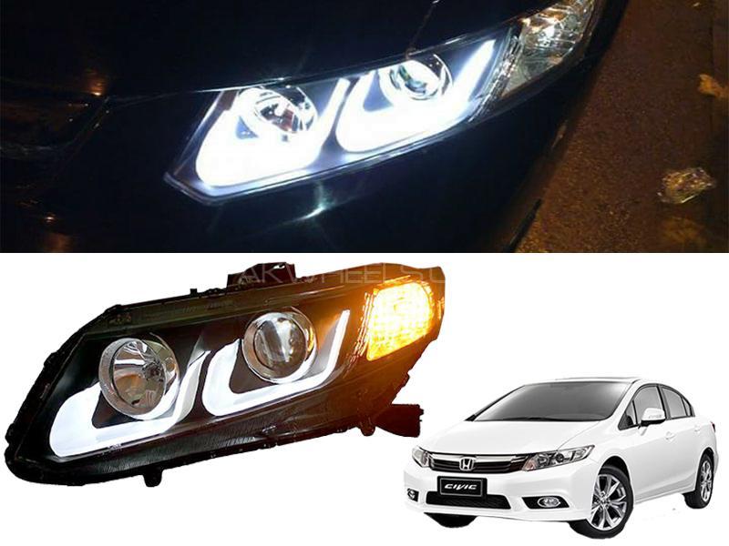 U Style Head Light For Honda Civic 2012-2016 in Karachi
