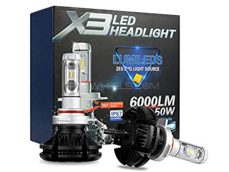 X3 LED Deep Yellow 6000 Lumens 50 Watt - 9005 Image-1